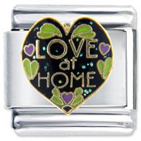 Golden Italian Charm Bracelet Love At Home X2 Italian Charm