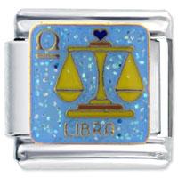 Baby Libra Italian Charms Bracelet Link X2 Italian Charm