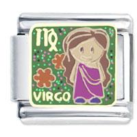 Baby Virgo Italian Charms Bracelet Link X2 Italian Charm