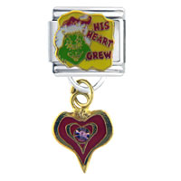 Santa Claus Christmas Grinch His Heart Grew Italian Charm Bracelet Licensed Italian Charm