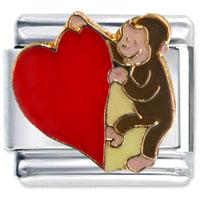 Curious George Heart Italian Charm Bracelet Licensed Italian Charm