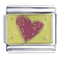 Golden Italian Charm Bracelet Pink Heart X2 X2 Italian Charm