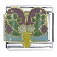 Spring Butterfly Animal Italian Charms Bracelet Link X2 Italian Charm