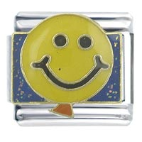 Happy Face Balloon Italian Charms Bracelet Link X2 Italian Charm