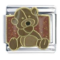 Teddy Bear Italian Charms Bracelet Link X2 Italian Charm