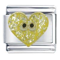 Happy Face Heart Italian Charm Bracelet X2 Italian Charm