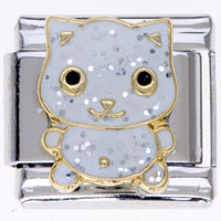 Animal Charms Lovely Cat 9 Mm Italian Charms For Bracelets