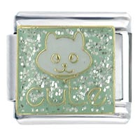 Cute Cat Animal Italian Charms Bracelet Link X2 Italian Charm