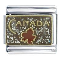 Canada Maple Leaf Flag Italian Charm Bracelet Bracelet Link X2 Italian Charm