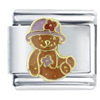 Daisy Teddy Bear Italian Charms Bracelet Link X2 Italian Charm