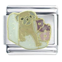 In Blanket Animal Italian Charms Bracelet Link X2 Italian Charm