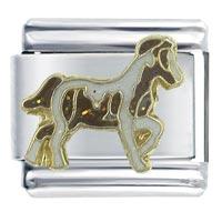 Prancing Pony Animal Italian Charms Bracelet Link X2 Italian Charm