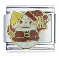 Jolly Christmas Gifts Snowman Italian Charms Bracelet Link X2 Italian Charm