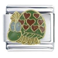 Heart Beetle X2 Italian Charm Bracelet
