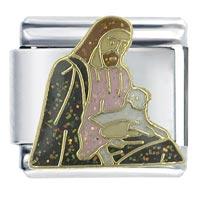 Bracelet Jesus With Lamb Religious Italian Charms Link X2 Italian Charm