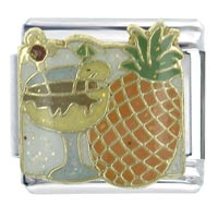 Pina Colada Food Beverages Italian Charms Bracelet Link X2 Italian Charm