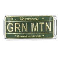 License Plate Vermont Flag Italian Charm Bracelet Bracelet Link X2 Italian Charm
