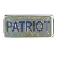 License Plate New Hampshire Italian Charm Bracelet Bracelet Link X2 Italian Charm