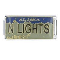 License Plate Alaska Italian Charm Bracelet Bracelet Link X2 Italian Charm