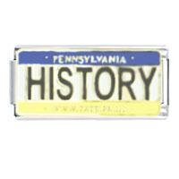 License Plate Pennsylvania Italian Charm Bracelet Bracelet Link X2 Italian Charm