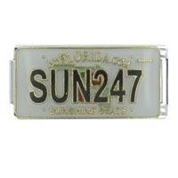 License Plate Florida Italian Charm Bracelet Bracelet Link X2 Italian Charm