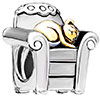 Silver Cat Charm Bracelet In Chair Charm Fit All Brands Bracelet