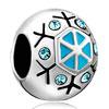 Snowflake European Bead Charms Bracelets Fit All Brands Bracelets