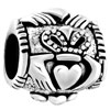 Pugster?  Sterling Silver Irish Claddagh Fits Beads Charms Bracelets Fit All Brands