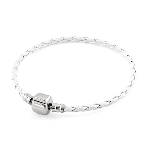 New Year Deals - clear white wrist chain cape cod bracets braided leather cord bracelet Image.