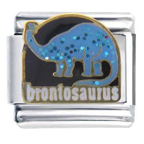 Italian Charms - brontosaurus animal italian charms Image.