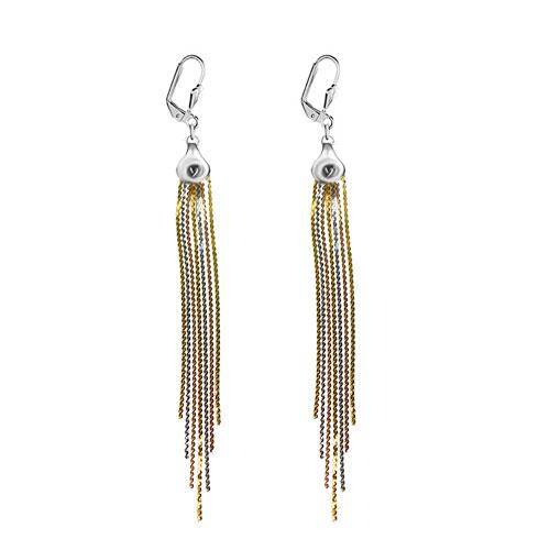 Earrings - elegant tassel dangle cluster earrings Image.
