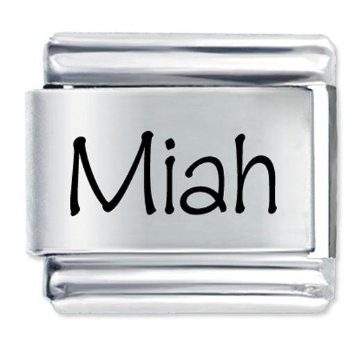 Italian Charms - name miah italian charms bracelet link laser italian charm Image.