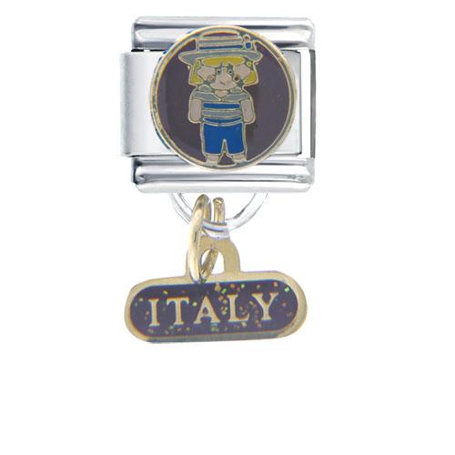 Italian Charms - girl italian charms bracelet link dangle italian charm Image.