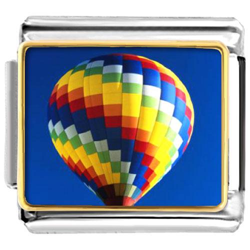 Italian Charms - travel hot air balloon photo 9 mm italian charms for bracelets photo italian charm Image.