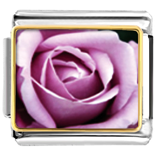 Italian Charms - blooming rose gift photo italian charm bracelet Image.