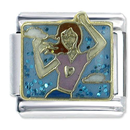 Italian Charms - young woman' s dance italian charms bracelet link x2  italian charm Image.