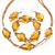 4  Pcs Topaz Swirl Beads Bracelet Earrings Necklace Jewelry Set