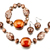 4  Pieces Of Resin Bracelet Earrings Set Pendant Necklace Jewelry